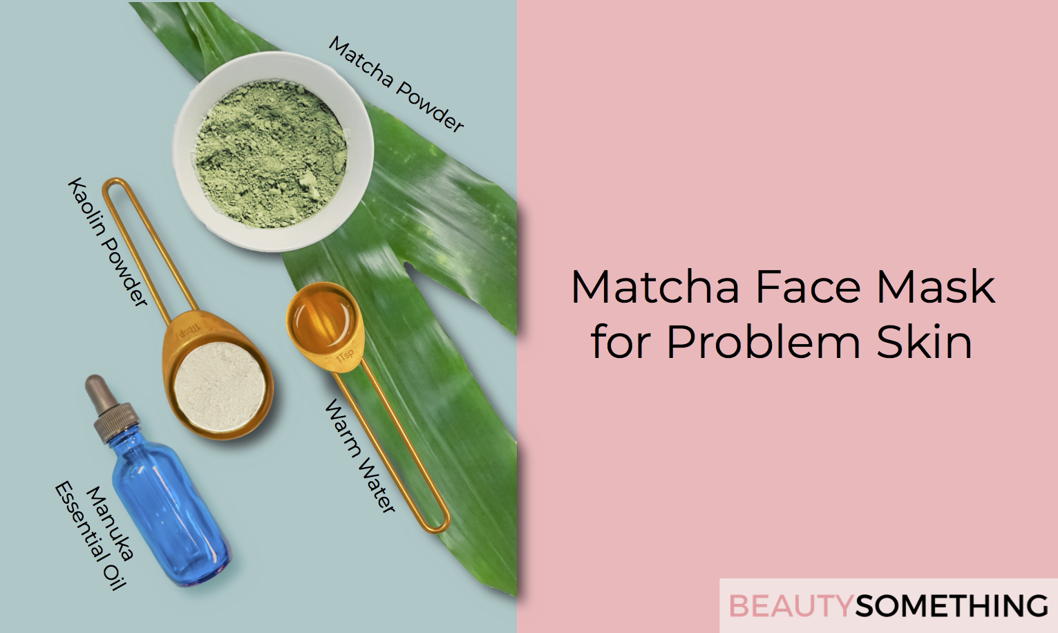 matcha green tea face mask for problem skin and acne recipe