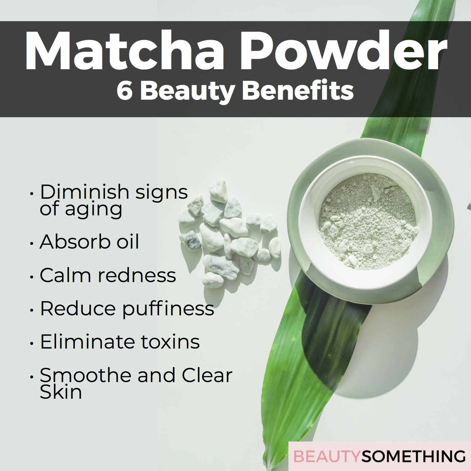 matcha powder - 6 beauty benefits
